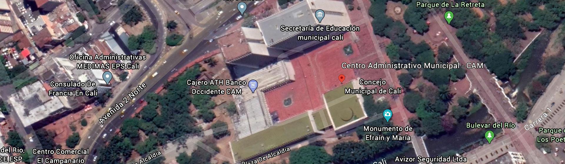 Imagen de GoogleMaps del CAM en Cali